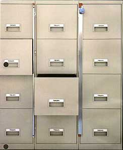 File Cabinet Locking Bars